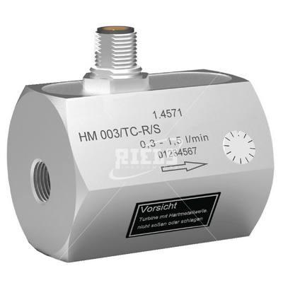 Hm tcr misuratori di portata a turbina solventi acqua - Misuratori di portata per acqua ...