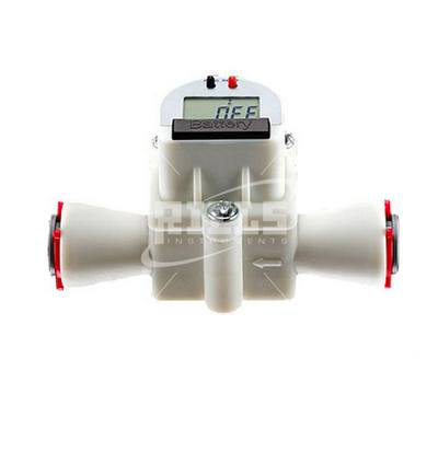 FHKU LCD Flow meters turbine powered for non-viscous liquids. Flow rate up to 30 l/min.