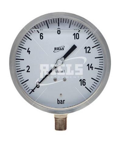 MX Manometer And Vacuum Gauge Tube Bourdon Inox Suitable For Gaseous Or Liquid Media