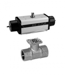 SR  Pneumatic valve with single acting actuator.