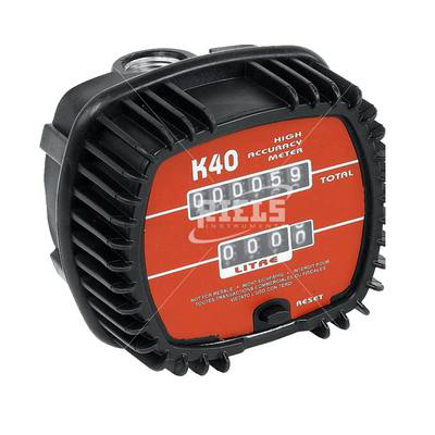K40 Mechanical flow meters oval gears for diesel and oils. Flow rates up to 30 l/min.