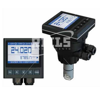 M9 Insertion turbine flow meter with large graphic display of 4