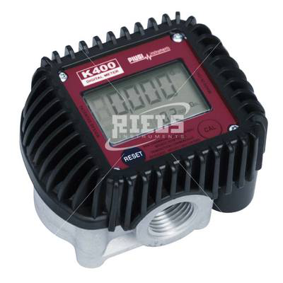 K400 Electronics flow meters oval gears with display. Flow rate up to 30 l/min.