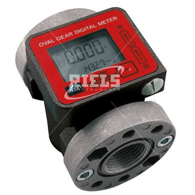 K600/3 Electronics flow meters oval gears with display. Flow rate up to 100 l/min.