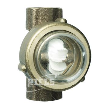 Riv905 indicatore visivo di flusso in ottone idoneo per - Portata e pressione acqua ...