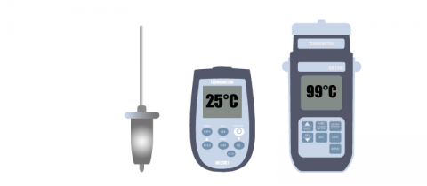 Portable thermometers